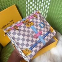 Clutch Lv Free box clutch pria & wanita handbag lv tas tangan