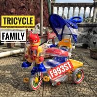 Sepeda dorong anak roda tiga tricycle family f993st mainan robot
