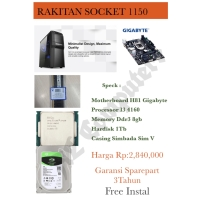 PC RAKITAN MURAH I3 4160 SOCKET 1150