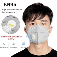 MASKER MULUT KESEHATAN FACE MASK FILTER VALVE ANTI VIRUS DUST KN95