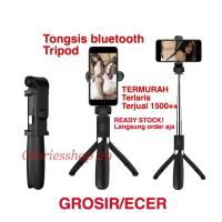 Tongsis Bluetooth Selfie Stick Remote Bluetooth Tripod Expandable !!