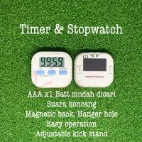 Stopwatch Kitchen Timer GARANSI - Suara Kencang 4 Mode Posisi