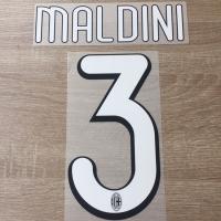 Original Nameset AC Milan 2009 Last Maldini
