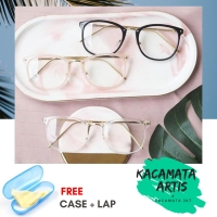 Frame kacamata huky pria wanita - free lensa minus / silinder / plus