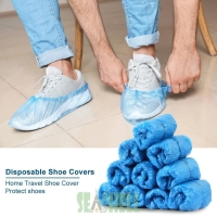 100 pcs disposable shoe cover anti bocor pelindung sepatu murah