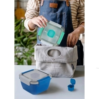 Microwavable! Air Tight Anti Tumpah Lunch Box Kotak Makan Sekat 1100ml