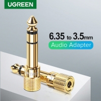 Ugreen Audio 6.35mm Male To 3.5mm Female Adapter Gold-20503