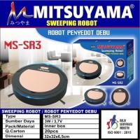 Mitsuyama Robot Vacuum Cleaner MS-SR3 Sweeping Robot Penyedot Debu SR3