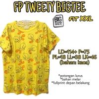 Fp Tweety Bigtee XXL Kaos Atasan Wanita Rumah Santai Jumbo