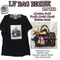 LV Bag Bigtee XXL Kaus Wanita Big size Nyantai Jumbo