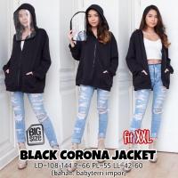 Black Anti C*rona Jacket XXL Hoodie Jaket Jumbo Unisex Wanita Laki