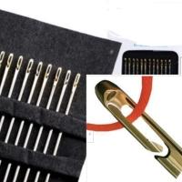 PANACHE 1 set 12 pcs Easy Self Threading Needles Jarum Benang Jahit