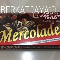Mercolade Dark Premium Chocolate Compound Coklat Batang 250gr