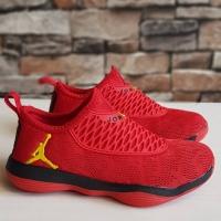 Sepatu Anak Nike Jordan Slip On Red Black Import