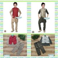 Koko vest set. Baju anak lebaran size besar teen muslim laki cowok