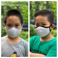 Masker Kain Anak Isi 2 Pcs Tali Adjustable 2 Lapisan Water Repellent