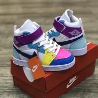 Sepatu Anak Nike Air Jordan 1 Retro High Multicolor Premium BNIB