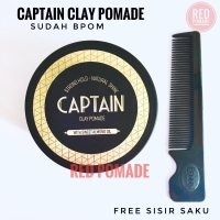 CAPTAIN CLAY POMADE WATERBASED STRONG HOLD 3.5O OZ 100 GRAM FREE SISIR