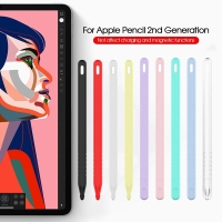 Apple Pencil 2 2nd Gen Case Silicone Sleeve With Nib/Cap & Hook