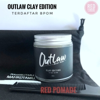 OUTLAW CLAY POMADE WATERBASED STRONG HOLD BY WESLEY HUANG + FREE SISIR