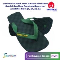Sandal Swallow Premium Spectrum Pria Black - Tali Hijau Tua