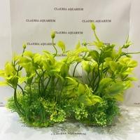 Tanaman Bunga Hias Plastik Aquarium Aquascape Import Aksesoris M 531