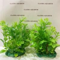 Tanaman Bunga Hias Plastik Aquarium Aquascape Import Aksesoris M 404