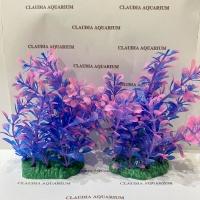 Tanaman Bunga Hias Plastik Aquarium Aquascape Import Aksesoris M 402