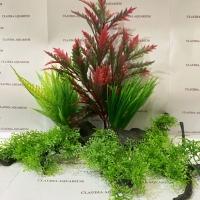 Tanaman Bunga Hias Plastik Aquarium Aquascape Import Aksesoris D 806