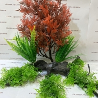 Tanaman Bunga Hias Plastik Aquarium Aquascape Import Aksesoris D 1008