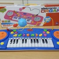 Lezile Electronic Organ Piano Mic Keyboard Mainan Anak Biru dan Pink