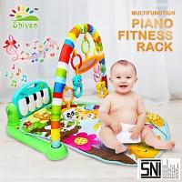 baby gym musical set musik bayi playmat matras mainan piano berkaraktr