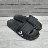 Sandal Slide Adidas All Black Grade Original + Paperbag