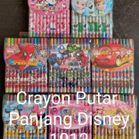 Crayon putar 12 warna panjang, 12 colour twist crayon cute character