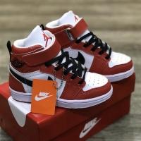 Sepatu Anak Nike Air Jordan 1 Retro High Merah Putih Hitam Premium