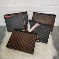 Clutch LV Mirror Qualitu Handbag pria & wanita import
