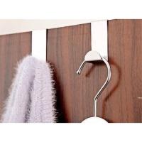 Gantungan Besi Serbaguna Hook Pintu Lemari Dapur WC Stainless 2pcs
