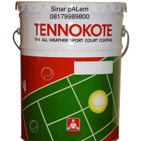 Teknokote pail 22,5kg cat lapangan tenis basket pelapis serbaguna kuas