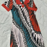 Dress batik size M motif printing parang kencana