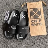 Sandal Slide Hypebeast OFF WHITE all black