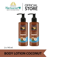 Herborist Body Lotion Coconut 145ml - 2pcs