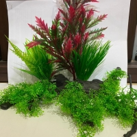 Tanaman bunga hias plastik aquarium aquascape import aksesoris D806