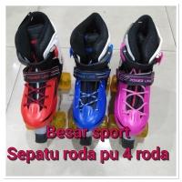 Sepatu roda anak PU WHEEL 4 RODA BAGUS