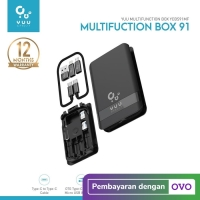 YUU MULTIFUNCTION BOX WITH TYPE-C CABLE, CONVERTER & OTG - YCBS91MF
