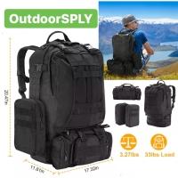 Tas Tactical Backpack 55L Tas Anak Militer Camping Bag 4 in 1 Outdoor