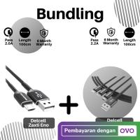 Promo Bundling Kabel Declell Eno Micro 100cm + Zaxti Leon 3in1 100cm