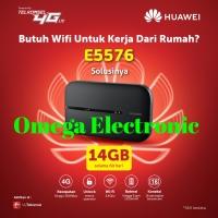 RESMI Modem Wifi MIFI 4G LTE Huawei E5576 UNLOCKED Free Telkomsel 14GB