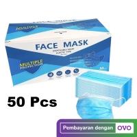 Masker 3 Ply 3Ply isi 50 disposable Masker 3 Lapis anti virus Earloop