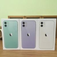 Iphone 11 64gb dualsim nano new greenpeel garansi 1 tahun apple