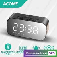 Acome A5 Speaker Bluetooth 5.0 Jam Alarm LED Display Ultra Bass